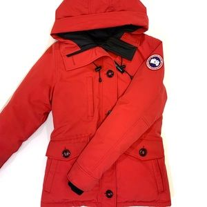 Canada Goose 'Rideau' Slim Fit Down Parka in Red